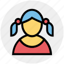 avatar, child, girl, kid, schoolgirl, student, user icon
