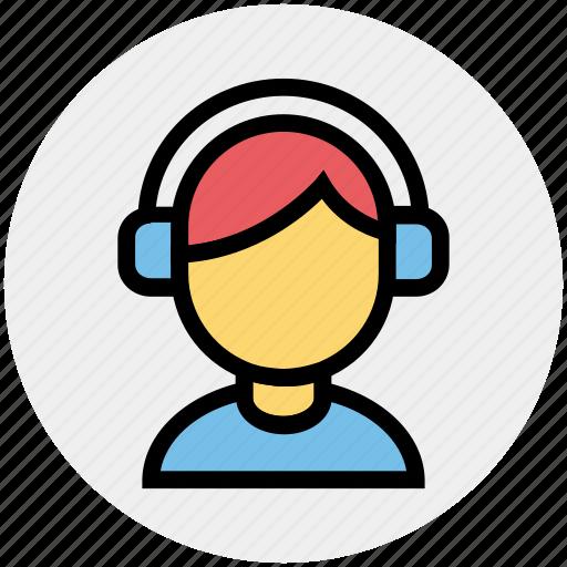 avatar, boy, disk jockey, headphones, male, music, music listening icon