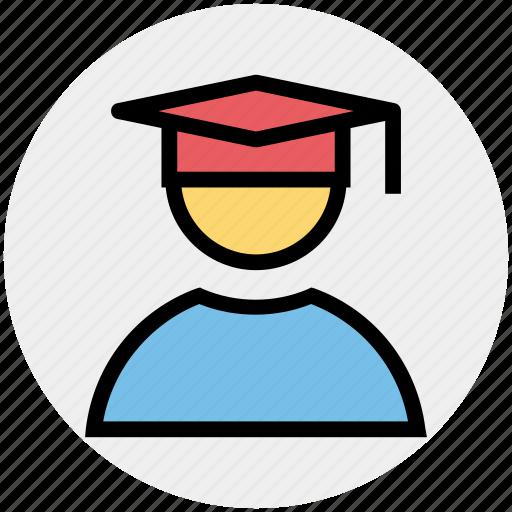 degree, diploma, educator, graduate, professor, scholar, student icon