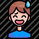 avatar, boy, grinning, man, person icon