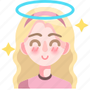 avatar, wings, woman, angel, person, girl icon