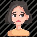 avatar, boring, girl, person, unamused, woman