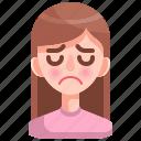 avatar, emotion, girl, person, sad, woman