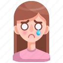 avatar, cry, feeling, girl, person, sad, woman