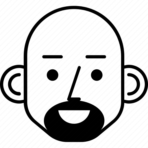 avatar, bald, man, person, user icon