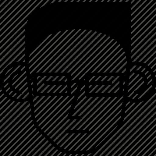 avatar, man, nerd, person, user icon