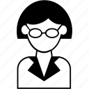 avatar, female, office, person, user, woman, worker