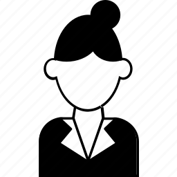 avatar, female, lady, office, user, woman, worker icon