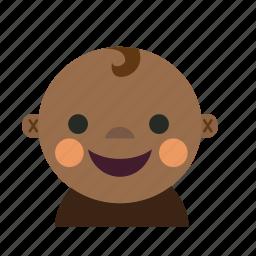 african, asian, avatar, baby, boy, kid icon