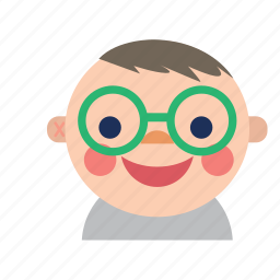 avatar, baby, boy, kid, nerd, smiley, style icon
