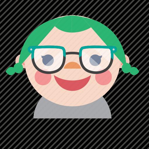 avatar, baby, girl, kid, nerd, smiley, style icon