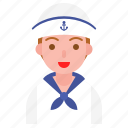 avatar, nautical, navy, sailor, user icon