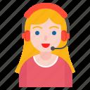 avatar, business, call center, support, woman