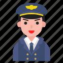 airforce, avatar, captain, person, uniform icon