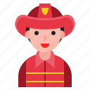 avatar, firefighter, male, man, user icon