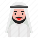 arab, avatar, guy, man, muslim, saudi icon