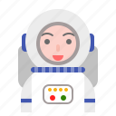 astronaut, avatar, man, space, universe icon