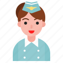 airhostess, avatar, female, girl, uniform, woman icon