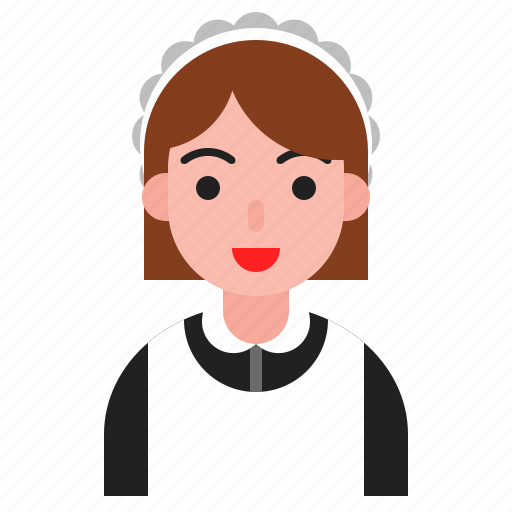 avatar, cleaning service, maid, occupation, person, woman icon