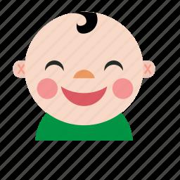 avatar, baby, boy, chinese, kid, smile icon