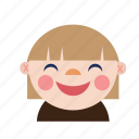 avatar, baby, chinese, girl, kid, smile icon
