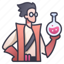 medicine, chemistry, character, science, rpg, alchemist, alchemy icon