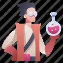 alchemist, alchemy, character, chemistry, medicine, rpg, science icon