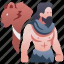 animal, bear, character, druid, rpg, shaman icon