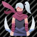 assassin, blade, character, killer, ninja, rpg, warrior icon