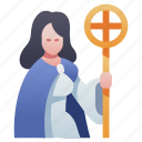 character, fantasy, mage, magic, priest, rpg, wizard icon