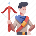 archery, character, crossbow, hunt, hunter, rpg, weapon icon