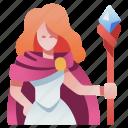 character, fantasy, magic, rpg, wand, wizard icon