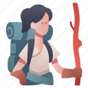 adventure, character, explorer, hiker, journey, people, rpg icon