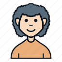 afro, avatar, boy, character, man, people, profile icon
