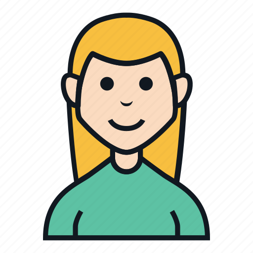 avatar, character, elf, female, long hair, people, woman icon