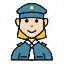 avatar, job, occupation, officer, people, police woman icon