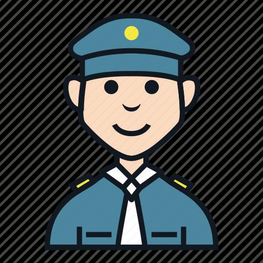 avatar, boy, job, man, occupation, people, police icon