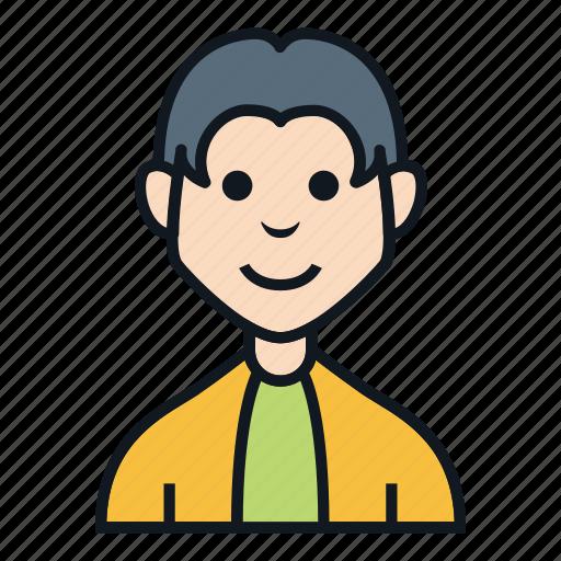 avatar, boy, character, hair stylist, man, people, profile icon