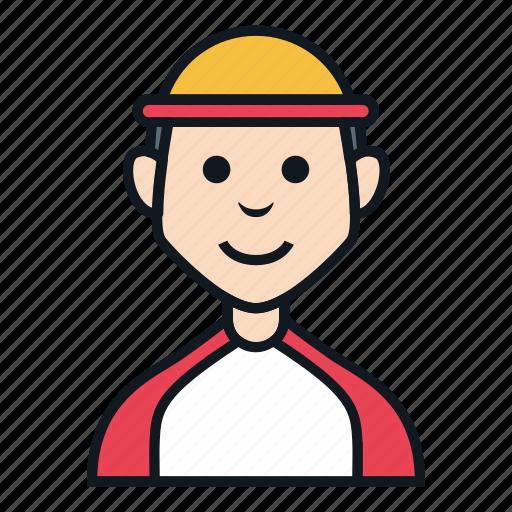 avatar, boy, character, male, man, people, raglan icon