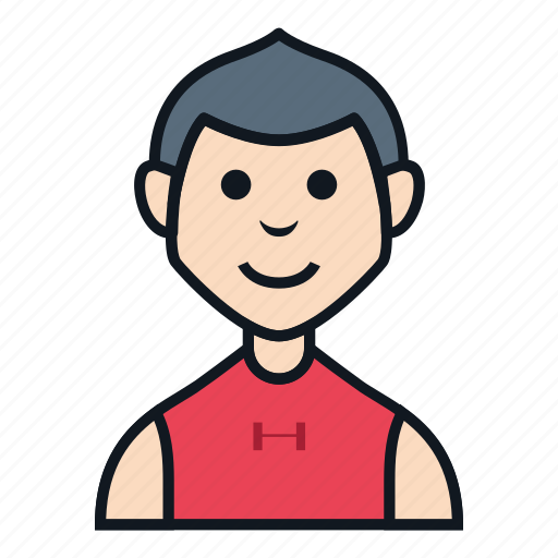 avatar, boy, character, hurley, man, people, workout icon