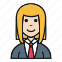 avatar, female, girl, news anchor, people, reporter, woman icon