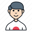 avatar, boy, character, japanese, man, people, smile icon
