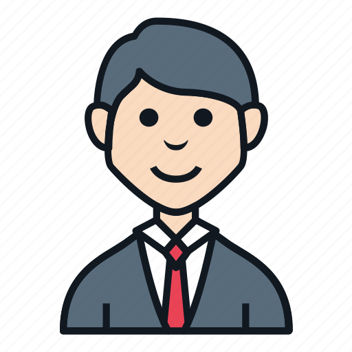 avatar, boy, character, news anchor, people, reporter, work suit icon
