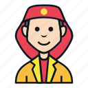 avatar, fire, job, man, occupation, people, profile icon