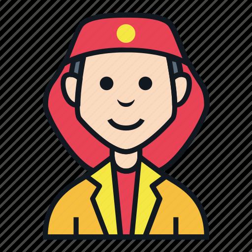 avatar, fire, job, man, occupation, people, profile icon