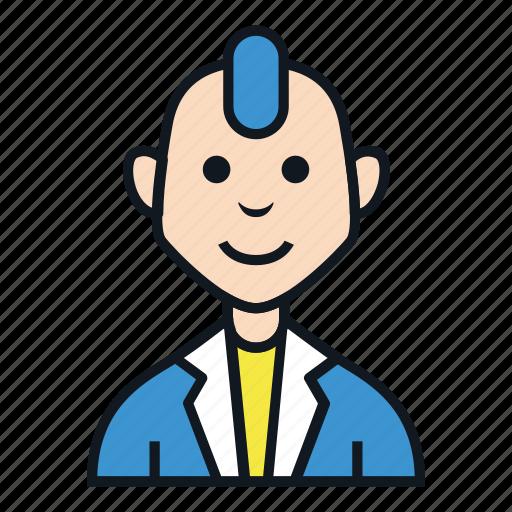 avatar, boy, fashion, man, people, profile, punk icon