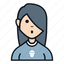 avatar, girl, metal, music, people, profile, smile icon