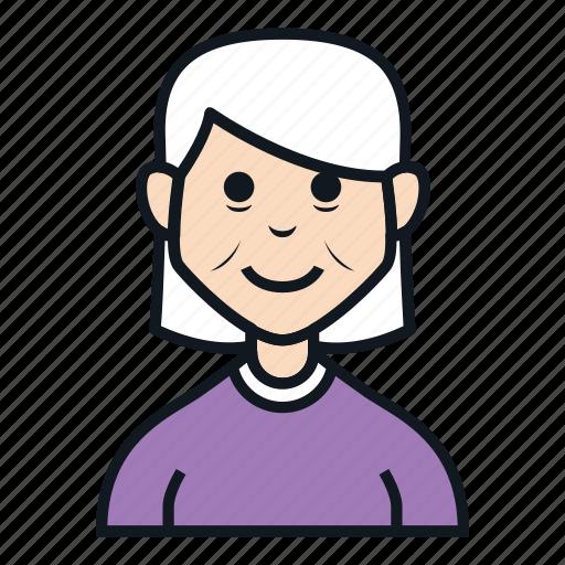 avatar, character, grandma, grandmother, old woman, people, woman icon