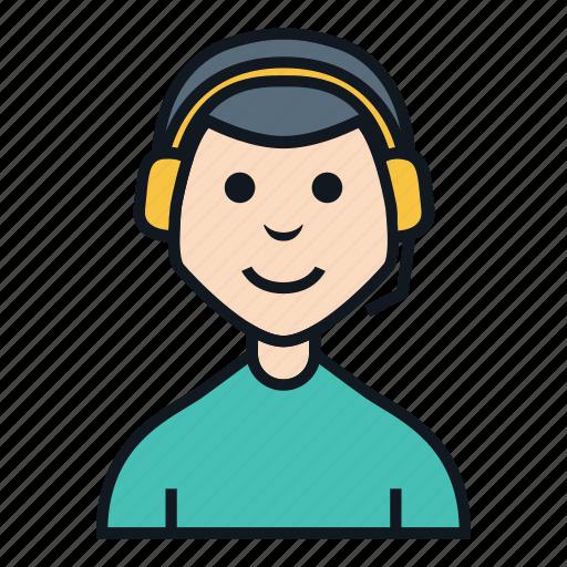 account, avatar, boy, character, customer service, job, people icon