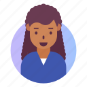 african, avatar, people, profile, user, woman icon